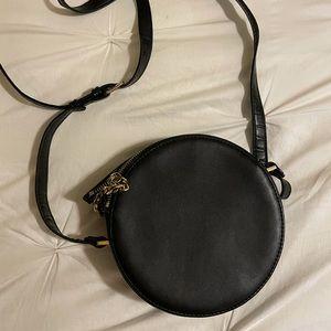 Free People Black Circle Crossbody Bag